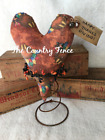 Primitive Fall Thanksgiving Rusty Spring Heart Make Do's Tucks Prim Ornies