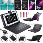 """US For RCA Voyager 7"""" 8"""" 10.1"""" Tablets Micro USB Keyboard Leather Case Cover WQ"""