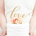 LOVE Cake Topper Sparkle Glitter Gold Wedding Decorating Engagement Party Top PL