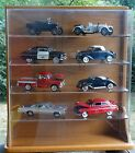 Danbury Mint Wood Display Case For 10 124 Scale Diecast Model Cars Oak Shelf