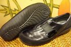 NAOT Otago Black Leather Slip on Comfort Loafer Womens 7 M 38 Lightweight