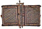 Handmade antique Persian Sumak saddle bag 1.8' X 3.3' ( 55cm X 100cm) 1940 1C399