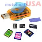 All In One Micro SD to USB Multi Card Memory Card Adapter Reader Supports 128GB