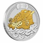 2018 Money Toad Tuvalu 1oz 1 Dollar 9999 Silver  24k Gold Gilded Gilt Coin