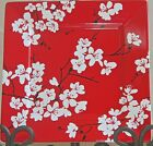 222 FIFTH MIA BLOSSOMS RED SALAD PLATES SET OF 4 NEW RED BLACK WHITE FLORAL