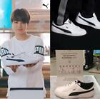new BTS puma bullet proof youth league shoes sneakers photocard white shoes
