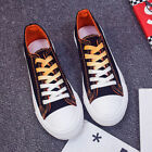 Women Canvas Sneakers Lace Up Gradient Shoelace Casual New Fashion Shoes 3 Color