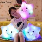 US Star Shaped Glowing LED Pillow 7 Color Changing Light Up Soft Cushion Funda C