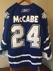 Reebok Toronto Maple Leafs Authentic Hockey Jersey On Ice Game McCabe #24