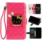 Cute Hello Kitty Handbag Strap Leather Wallet Case Cover for iPhone X 6 7 8 Plus