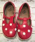 Puddle Jumper red white polka dot shoes slip on Mary Jane size 1L Christmas