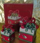 """Fitz and Floyd """"Remembering Santa"""" Two Trinket Boxes"""