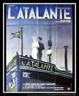 ATALANTE Jean Vigo 4x6 ft French Grande Movie Poster ReRelease 1980s from 1934