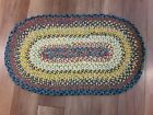 Hand Made Braided Multicolored Rug 35x20 Never Used