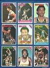1975-76 Topps Basketball set lot of 154 diff cards Erving Gervin Maravich McAdoo