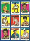 1971-72 Topps Basketball lot of 92 diff cards Frazier Reed Haywood RC Hayes