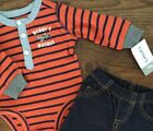 NWT CARTERS Boys Size 3 MONTHS TWO PIECE SET Bodysuit  Pants MSRP 2000
