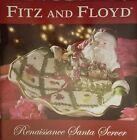 Fitz & Floyd RENAISSANCE SANTA SERVER Platter Holiday Collection NIB Christmas