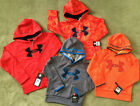 NWT Under Armour Boys Logo Hoodie Pull Over Zip Up Storm Twist New Size 4 6 YXS