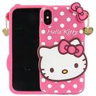 iPhone X Case Cover Hello Kitty Cute Cartoon Soft Silicone Protection Pink Girls