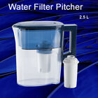 MS Classic Clear Pitcher With Blue lid 067 Gallon 25L Large Jug With Filter