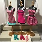 Pink Minidresses 3 With Shoes For Barbie Adorable