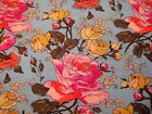 1 4 Yard Amy Butler Aqua Pink Yellow Rose Sketch Floral Fabric Quilt 100 Cotton