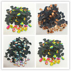100pc 5x8mm Faceted MIX COLOR Teardrop Iron On Hot Fix Crystal Glass Rhinestones