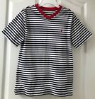 NWT Ralph Lauren Polo Boys M 10 12 Blue Striped Cotton Short Sleeve T Shirt