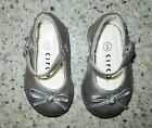 CIRCO Baby Toddler Girls Silver Gray MARY JANE Holiday Dress Shoes Size 2