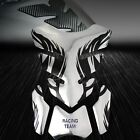 3D Gel Fuel/Gas Tank Pad Protector Decal/Sticker Chrome Silver+Black Tribal Fire