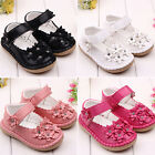 EP Cute Baby Infant Toddler Girls Flower Rhinestone Faux Leather Shoes Remarka
