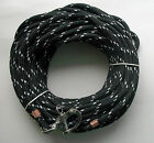 3 8 x 85 ft Dacron Polyester Halyard Spliced in S S Snap Shackle blk wh