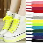 1 Pair Flat Colourful Athletic Sneaker Shoe Laces strings Shoelaces Bootlaces GD