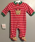 New 3 Months Carters Unisex Boy Girl Reindeer Christmas Fleece Footed Zip
