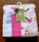 New Circo 4 pack flannel receiving blankets swaddle baby girl pink owl
