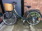 Folding bicycle retro traditional style 8 shimano gears wicker basket