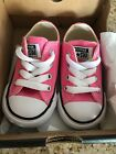 PINK CONVERSE INFANT BABY GIRL SHOES SIZE 4 BRAND NEW IN BOX