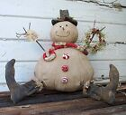 PriMitiVe ~ Wintertime Snowman ~ Christmas Winter Doll Pattern