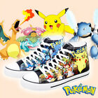 Popular Anime Canvas Shoes Pokemon Character Colorful Casual High Ankle Sneakers