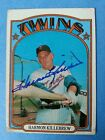 Harmon Killebrew 1972 Topps Minnesota Twins 51 Signed Autographed