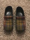Dansko Clogs Wool Plaid Size 105 11 41