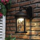 Outdoor Porch Wall Light Lantern Clear Glass Shade LED Bronze Patio Home Mounted