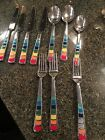 Fiesta Flatware Retired Masquerade Rainbow Spoons Forks Knifes Gently Used