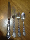 Gorham Sterling Strasbourg 4pc Place Setting Knife Salad fork Dinner Fork Spoon