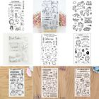 DIY Diary Card Transparent Silicone Clear Rubber Stamp Cling Diary Scrapbooking