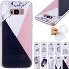 Ultra Slim Marble Rubber Soft TPU Case Cover For Huawei Samsung J330 J530 J730