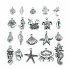 30pcs lot Antique Silver Animal Starfish Shell Charms Pendant For Jewelry Making