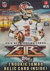 2015 Topps FIRE Series NFL Football Sealed Blaster Box of Packs with One ROOKIE