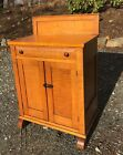 Early American Tiger Maple 1 Drawer 2 Door New England Low Cupboard